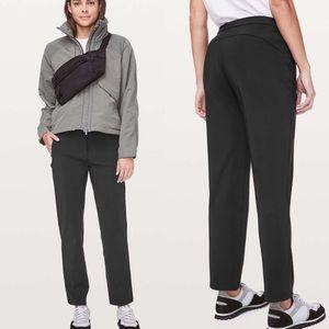 Lululemon On The Move Black Trouser Pants Size 8